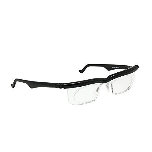 Adlens Adjustable Focus Eyeglasses Myopia Magnifying Reading Glasses -4D to +5D
