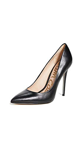 Sam Edelman Women's Danna Pump Black Leather 6 Medium US
