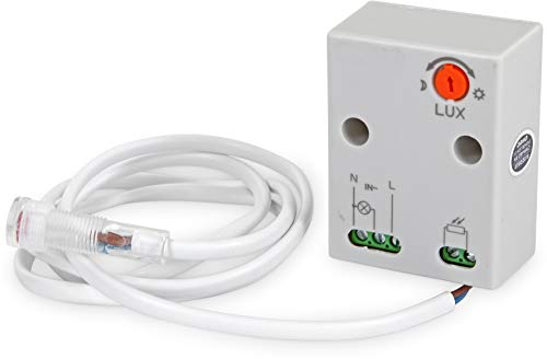 Aufputz Mini exterior Sensor Crepuscular 230V IP652300W-LED Adecuado a partir de 1W