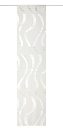 Deko Trends Trinidad 623712370–Tenda a Pannello, Tessuto, Bianco/Beige, 245X 60X CM