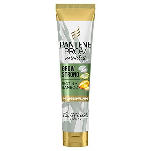 Pantene Pro-V Miracles Grow Strong Pflegespülung 160ml mit Biotin und Bambus, Beauty, Haarausfall Frau, Haarpflege, Conditioner