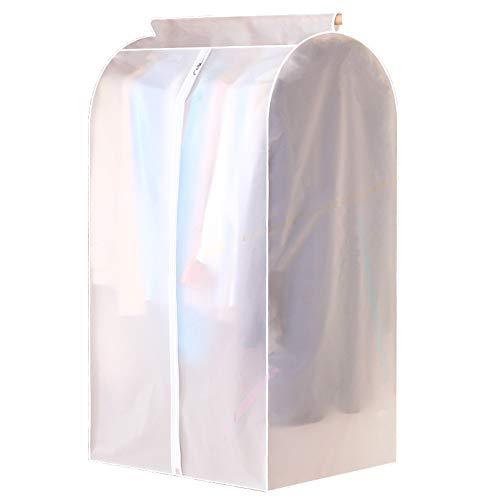 Homegk Kläder täckväska, dammsäkert klädskydd garderob hängande förvaringsväska klädstång skydd med helt slät dragkedja för kostymer, klänningar, skjorta, kappa (60 x 50 x 110 cm)