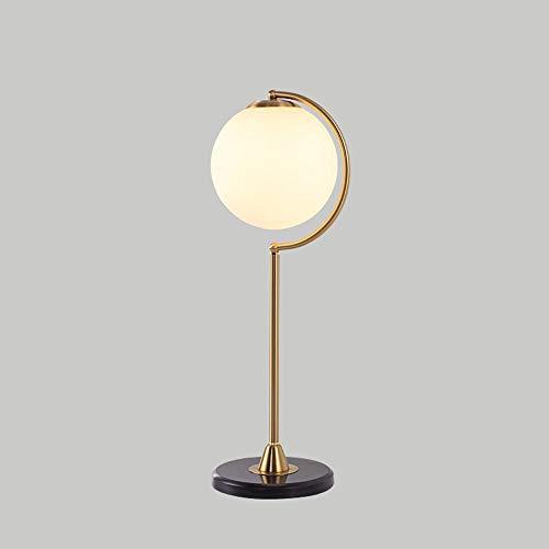 Hai Ying Eenvoudige persoonlijkheid tafellamp gemaakt van smeedijzeren creatieve tafellamp modern rond van glas kamerverlichting woonkamer tafellamp Tema (design: 2)