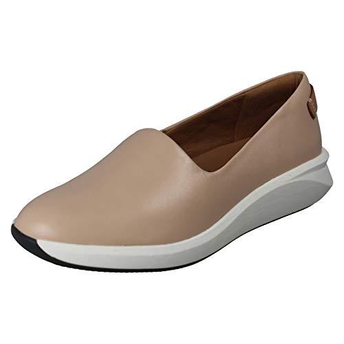 Clarks Damen Un Rio Step Slip On Sneaker, Blau (Blush Leather), 42 EU