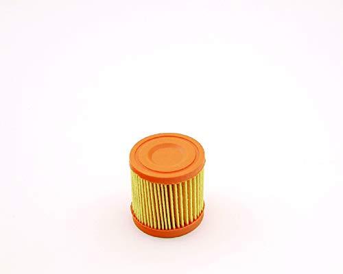 Ratioparts ronde luchtfilter, binnendiameter 27 mm, buitendiameter 50 mm, hoogte 60 mm, voor Tecumseh luchtfilter rond, geel