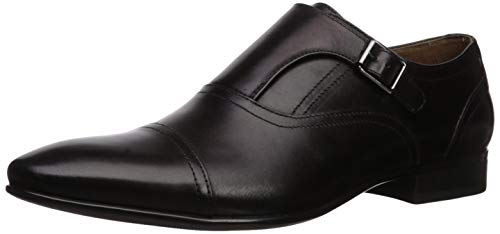 ALDO Men's Palia Monk-Strap Dress Loafer Uniform Shoe, Black, 11