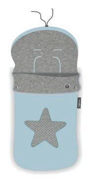 Pirulos 45531703 - Saco carro, diseño star, algodón, 48 x 82 cm, color azul