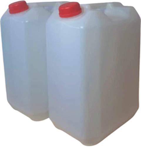 Garrfa bidón 25 litros Apilable Homologada Apta Uso Alimentario (2 Unidades de 25 litros/ud)