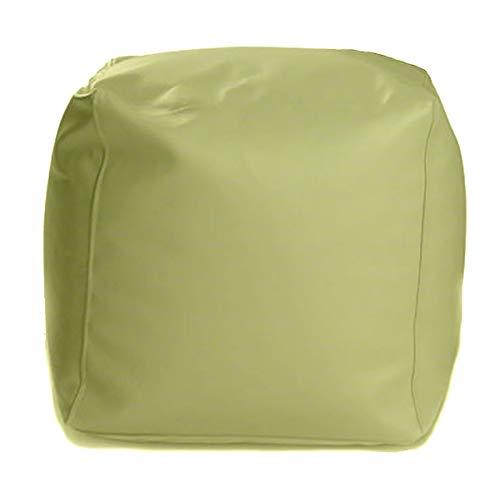 Ecopuf® Cube S Sitzpouf Quadratischer Hocker Kunstleder Sitzhocker voll mit Styroporkugeln - Puff 37x37cm
