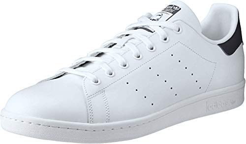 adidas Originals Stan Smith Herren-Sneaker aus Leder, Weiá (Running White/New Navy), 39 EU
