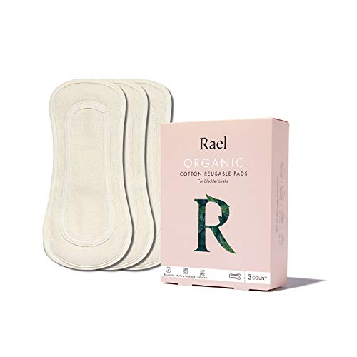 Hesta Organic Number.1 Protector Reutilizable Incontinence Pañal para Adultos para Mujeres, 3 Almohadillas - Blanco - Medium