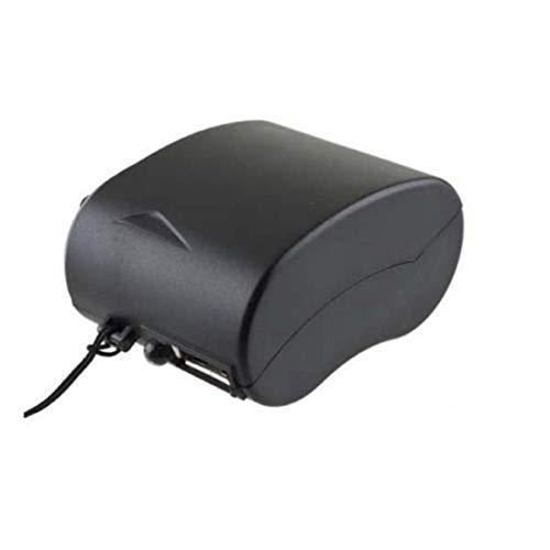 MeterBew1147 Mini Cargador de teléfono Celular con Radio USB de manivela y Linterna Cargador de generador de energía de Emergencia Manual portátil para Viajes al Aire Libre - Negro
