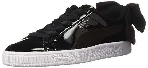 PUMA Damen Basket Bow Sneaker, schwarz, 39 EU