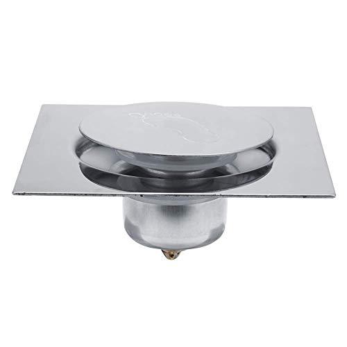 Drenaje de Piso Pedal Cuadrado Tipo de Rebote Desodorante Drenaje de Piso Acero Inoxidable para Baño Cuarto de Baño Garaje Sótano(#2)