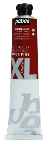 Pébéo 980008 Beaux-Arts Ölfarbe Studio XL, fein, 1 Tube mit 80 ml, Karminrot
