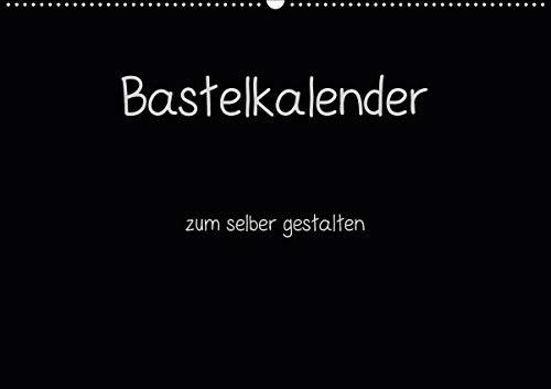 Bastelkalender - Schwarz (Wandkalender 2021 DIN A2 quer)