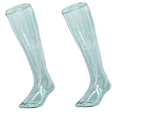"""20"""" Tall Acrylic Male Mannequin Legs W/Magnetic Steel Plates, Clear, Set of 2"""