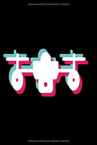 Drohne Notizbuch pink und türkis: Notizbuch kariert 120 karierte Seiten Din A5 perfekt als Notizheft, Tagebuch und Journal Geschenk für Drohnenfans