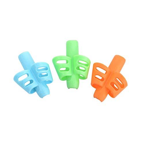 3 Stück Pencil Grip, Ergonomische Schreibhilfe Richtig, Haltungskorrektur Werkzeug Ausbildung Stift Haltehilfe Schreibhilfe Grip für Kinder, Schüler, Spezielle Bedürfnisse, Righties oder Lefties