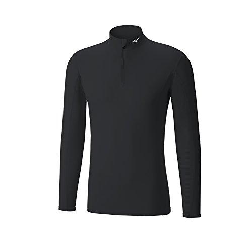 Mizuno Bt Mid Weight L/S H/Z, T-Shirt da Corsa Uomo, Nero (Black), L