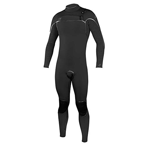 O'Neill Psycho One 4/3Mm Chest Zip Full Wetsuit, Black/Acidwash, Small