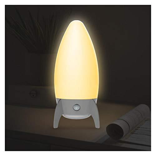 Aplique de pared Luz nocturna LED USB Al lado de la cama de la cama de la cama de la cama de la luz de la inducción de los niños la luz de la pared de la pared de la luz ( Emitting Color : As shown )