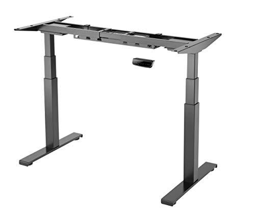 StandXT elektrisch höhenverstellbarer Schreibtisch D07-23DB, Schreibtischgestell stufenlos höhenverstellbarer mit Gyro Kollisionschutz, stabilen 3-Segment Füßen