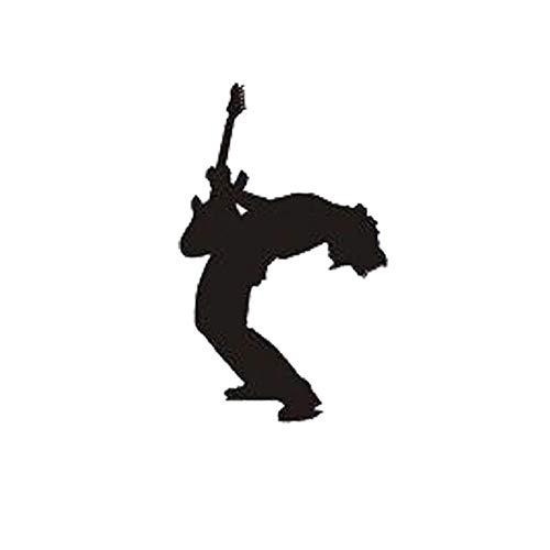 RJGOPL Autoaufkleber 8,1 * 13,1 cm Mode benutzerdefinierte Gitarre lustige Autoaufkleber auf Karosserie Aufkleber Vinyl schwarz/Silber C7-0619schwarz
