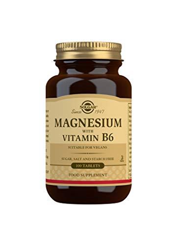 Solgar Magnesio com Vitamina B6-100 Comprimidos