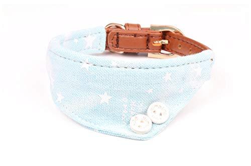 Formatio Halsbanden voor honden, zout handdoek, denim, blauw, huisdierhalsband, voor alle seizoenen, zacht, ademend, licht, aangenaam, wandelen, 1.3*34CM