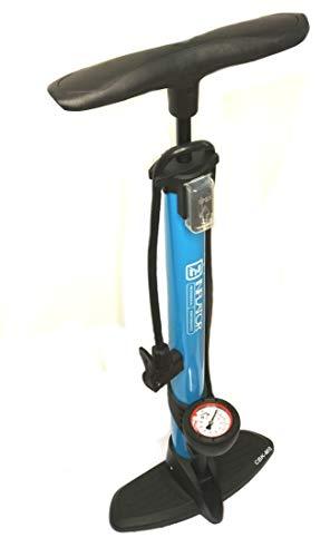 CBK-MS® Hochdruck Fahrrad Standpumpe mit Manometer Dualpumpenkopf (beto tek) für alle Ventile