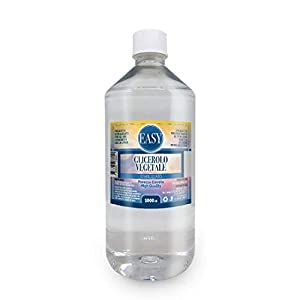 Easy – Glicerina vegetal (Glicerol) 1 litro líquido puro (99,98%) – Inodoro e Insabor- Sin OMG   Pureza certificada de grado farmacéutico USP/EP