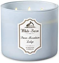 White Barn Bath & Body Works 3 Wick Candle Snow Mountain Lodge