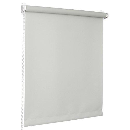 Rolmaxxx ROLLMAXXX Rollos Lichtdurchlässigrollo Fensterrollo Klemmfix ohne Bohren (90 x 150 cm, Grau)