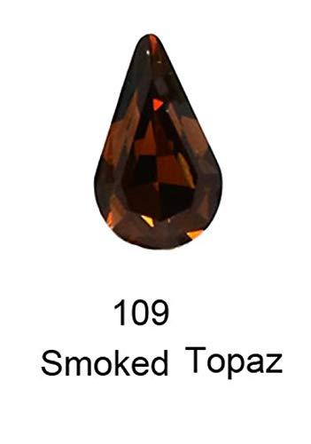 Drop Crystal Glass strass strass pour vêtements cristal Clear Stone strass applique 3d nail art décorations cristales, 109,8 13mm20pcs