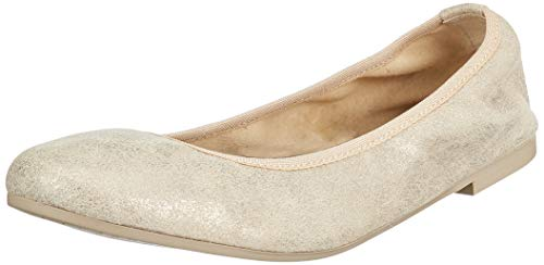 Tamaris Damen 1-1-22128-22 192 Geschlossene Ballerinas Weiß (CHAMPAGNE MET. 192), 38 EU