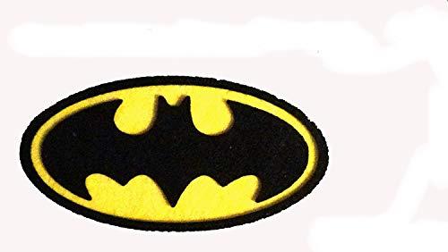 6 símbolos de superhéroes, Batman de fieltro de 6,5 x 3,5 cm. aprox. Silvys handmade