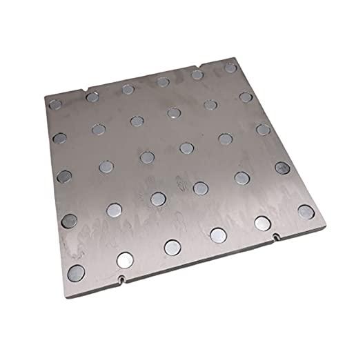 Stampante 3d Micposi Letto a piastra magnetica in alluminio piatto Pei. Lastra di aggiornamento del foglio a molla Placca da costruzione magnetica Voron (Color : Magnetic build plate, Size : 300mm)