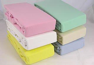 Juego de cama cuna tamaño 100% algodón para niños niño bebé, crema