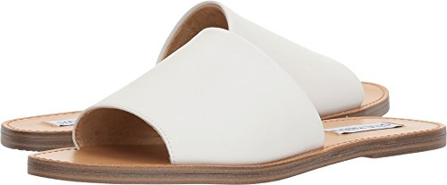 Steve Madden Grace Slide Sandal White Leather 5.5
