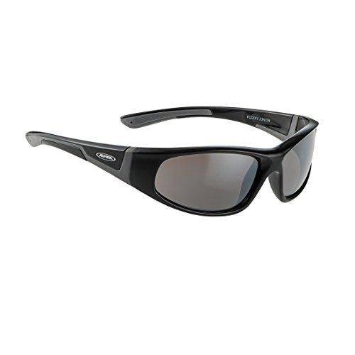 Alpina Kinder Sonnenbrille FLEXXY JUNIOR Outdoorsport-brille, Black-Grey, One Size