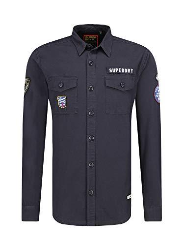 Superdry M4000013A Hemd Man Blau S