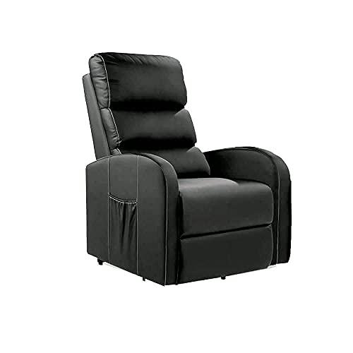 Sillón Masajeador Levantapersonas Total Relax - Disponible en varios Colores, Negro