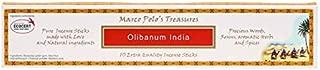 Marco Polo's Treasures Olibanum India Incense Sticks, Olibanum India, Pack of 10