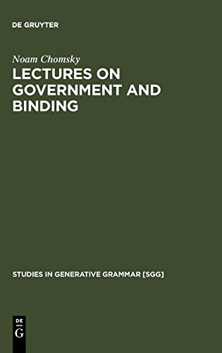 Lectures on Government and Binding: The Pisa Lectures (Studies in Generative Grammar [SGG])