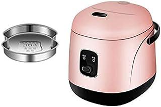 SHAAO Mini cuiseur à Riz électrique 1.2L 2 Couches cuiseur Vapeur Multifonction Repas marmite 1-2 Personnes Chauffage boît...