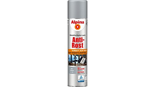 ALPINA Metallschutzlack Anti-Rost Spray, Hellgrau matt 400 ml