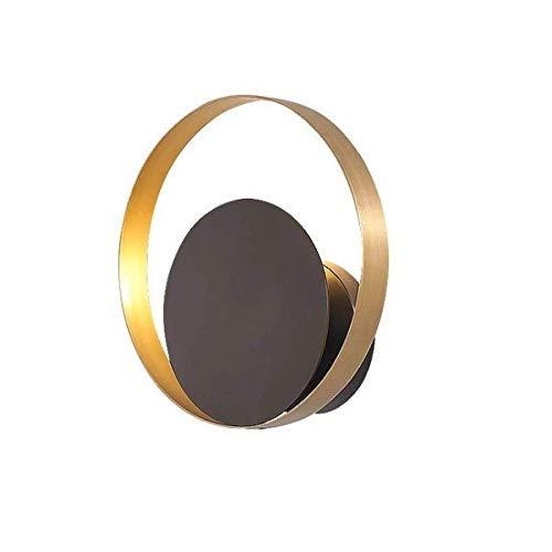 AOIWE Lámpara de Pared Whjyo, luz LED LED Moderno Lámpara de Pared Lámpara de Pared de Oro Lámparas de Pared Lamphade Negro Metal Moda Design Soporte Luz