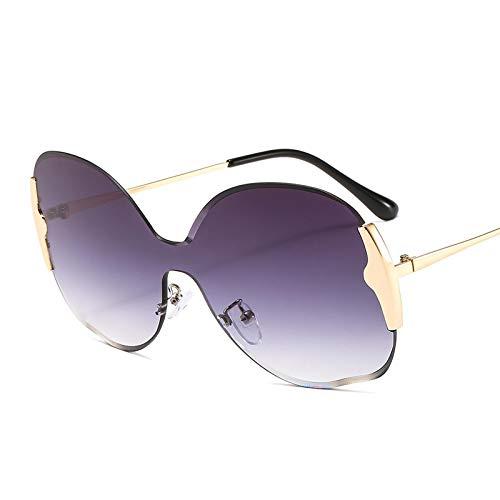 ShZyywrl Gafas De Sol De Moda Unisex Gafas De Sol Sin Montura De Gran Tamaño Gafas De Sol De Una Pieza con Montura Grande De Moda para Mujer Gafas De Sol Redon