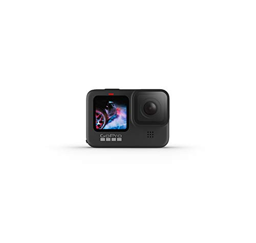 GoPro HERO9 Black - Fotocamera sportiva impermeabile con schermo LCD anteriore e touch screen posteriore, video Ultra HD 5K, foto da 20 MP, live streaming a 1080p, webcam, stabilizzazione